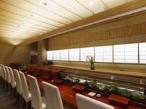 1F 高台寺「天風」 朝食料金 ¥1,000(税込)夜は寿司カウンターでおもてなし。