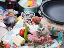 【豪華ステーキコース】国産牛を使用した豪華夕食&赤ワイン付き(ステーキコース/2食付)