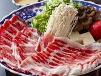 夕食:黒豚しゃぶしゃぶ