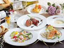 【フルコースディナー】美味しいお肉とお野菜をテーマにシェフこだわりのメニューが楽しめる。