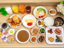 【料理】無料朝食バイキング一例