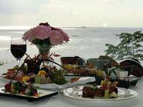 海を一望できるレストラン