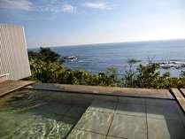 スイートルームの専用露天風呂からの景色!