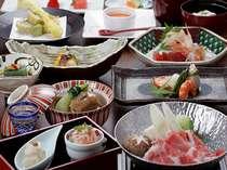 【薩摩会席】旬の食材をふんだんに使用した自慢の品々です/一例