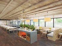 【レストラン】明るく開放的なレストランは、北国の空気感を感じられるデザインに(イメージ)