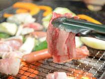 【BBQ】牛肉・豚肉・鶏肉・ウインナー…お肉たっぷり♪みんなでワイワイ焼肉を!