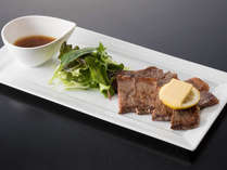 ▼『日光きりふり牛ステーキ』まろやかな甘みと上品な味わいが特長です