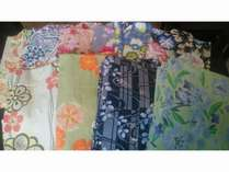【レディースプラン♪】女性限定、お洒落な色浴衣と湯籠セット~名湯草津温泉かけ流し~<軽朝食付き>