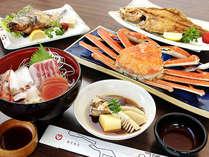 ≪ガンコおやじの海の幸≫プランお料理一例!※11月~3月はカニの大きさが控えめになります。