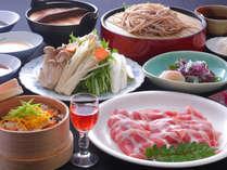 豚しゃぶ&お蕎麦食べ放題の夕食
