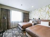 ツインルームは120cm幅のベッドが二つ♪お友達やファミリーでのご宿泊にピッタリ♪