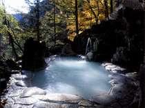 秋の女性露天風呂