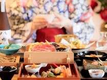 【ご夕食】ご夕食は「和食会席」メインは海の幸・山の幸を使用した「山海蒸し」