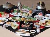 一泊2食付き【特選グルメ会席】◆食材グレードアップ!盛りだくさんの国東の幸に思わず舌鼓★