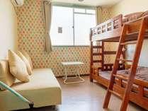 【ツインルーム】・2段ベッド ・無線、有線LAN接続可 ・バストイレ共用