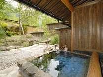 客室専用露天風呂♪源泉掛け流しの温泉を24H楽しめます(一例)