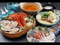 《贅沢》食材コテージお届け★イセエビ×蟹の豪華海鮮鍋プラン
