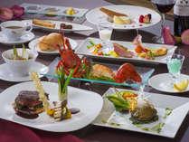 《極み》ホテルディナー★豪華三大食材の饗宴!信州プレミアム牛×伊勢海老×鮑◆極みフレンチ
