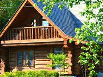 【ピーターパン】樹齢100年の丸太を組んだ重厚感のある本格ログハウス。
