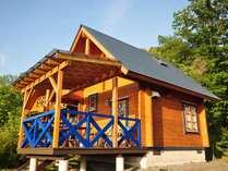 【青】サンタクロースの国、フィンランドから輸入した可愛いログハウス。