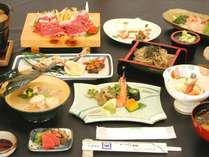 料理一例・夕食(飛騨牛しゃぶしゃぶ)