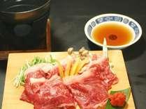 料理一例・飛騨牛しゃぶしゃぶ