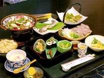■夕食一例■地元の無農薬・天然食材を中心としたお料理コースを召し上がれ♪