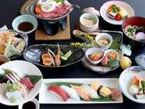 ◆【牛ロースステーキと寿司会席】※写真は一例です。