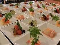 季節の前菜一例・四季折々の素材の美味しさをお楽しみください。