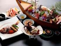 【平日割◆お料理豪華版】豪華海鮮~イセエビ・金目鯛・アワビ・カニ・舟盛~贅沢な海の幸に舌鼓 夕朝食付