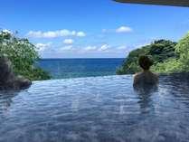 【インフィニティ露天風呂】景色と温泉がひとつにつながります! ※イメージ画像