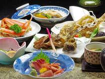 その時期・その日一番の素材を使った会席料理は7~8品。鮮度がいいと味も一味違います。