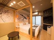 *【部屋一例】ツインルーム/小上がり畳のあるシャワーブースのみ部屋。