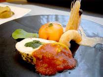 【洋食ディナー一例】旬の食材を使い、料理人が趣向を凝らしたお料理の数々をご堪能下さい。