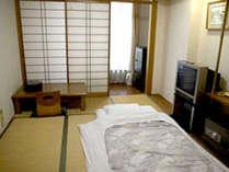 【和室シングル一例】お1人様用のシングルルーム。ベッドよりも布団で寛ぎたいという方に♪