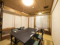 【個室食会場】5名様以上でご利用の場合は、お食事を個室にてご用意する場合がございます。