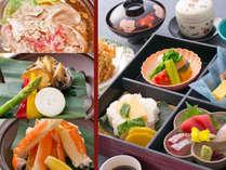 【選べる陶板焼付♪松花堂】焼蟹・あわびバター焼・和牛すき焼よりお好きな陶板焼がついたお得なコースです