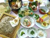 大人気の料理長こだわりの手打ち蕎麦と季節の旬が彩る和食膳