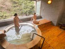 【貸切風呂・檜】檜の香りと絶景で心も体も癒されて♪