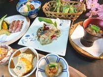 春の食材を用いた4月の会席料理例