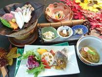 秋の会席料理の一例