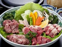 【グルメ向け】『あか牛肉祭り(リブロース・モモ・フィレ)』付きプレミアムバイキングプラン