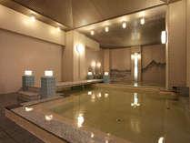 *大浴場「夫婦善哉」は落ち着いた雰囲気。ひろびろゆっくりリラックスいただけます。