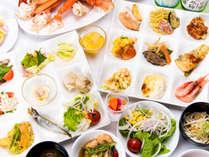 *ご夕食バイキング例 空知をはじめとした新鮮な道産食材を使用しています