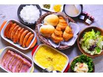 【朝食ビュッフェ】和食・洋食、豊富なメニューをご用意しております。