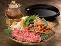 【秋のグルメプラン♪】~ご当地牛と松茸のすき焼きと土瓶蒸のセット付~