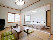 【202号室】 和洋室ツイン 15平米+7.5畳