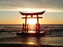 【年末年始】特別料理で年越し&お正月☆日本海と夕陽の絶景、金毘羅神社で新年の初詣/2食付