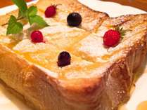 朝食に焼き立てフレンチトーストはいかがですか?