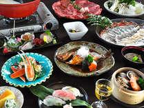 ひとつひとつのお料理のボリュームを抑え、品数を豊富にしたメニューです。